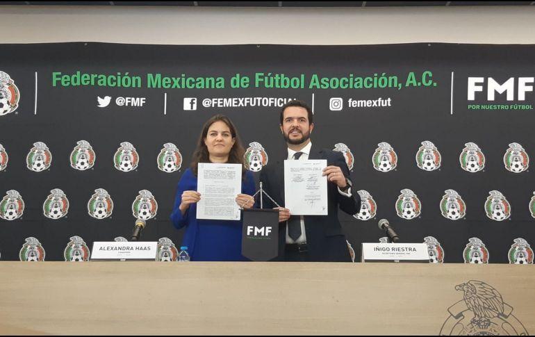 La FMF y el Conapred firman convenio para erradicar grito homofóbico